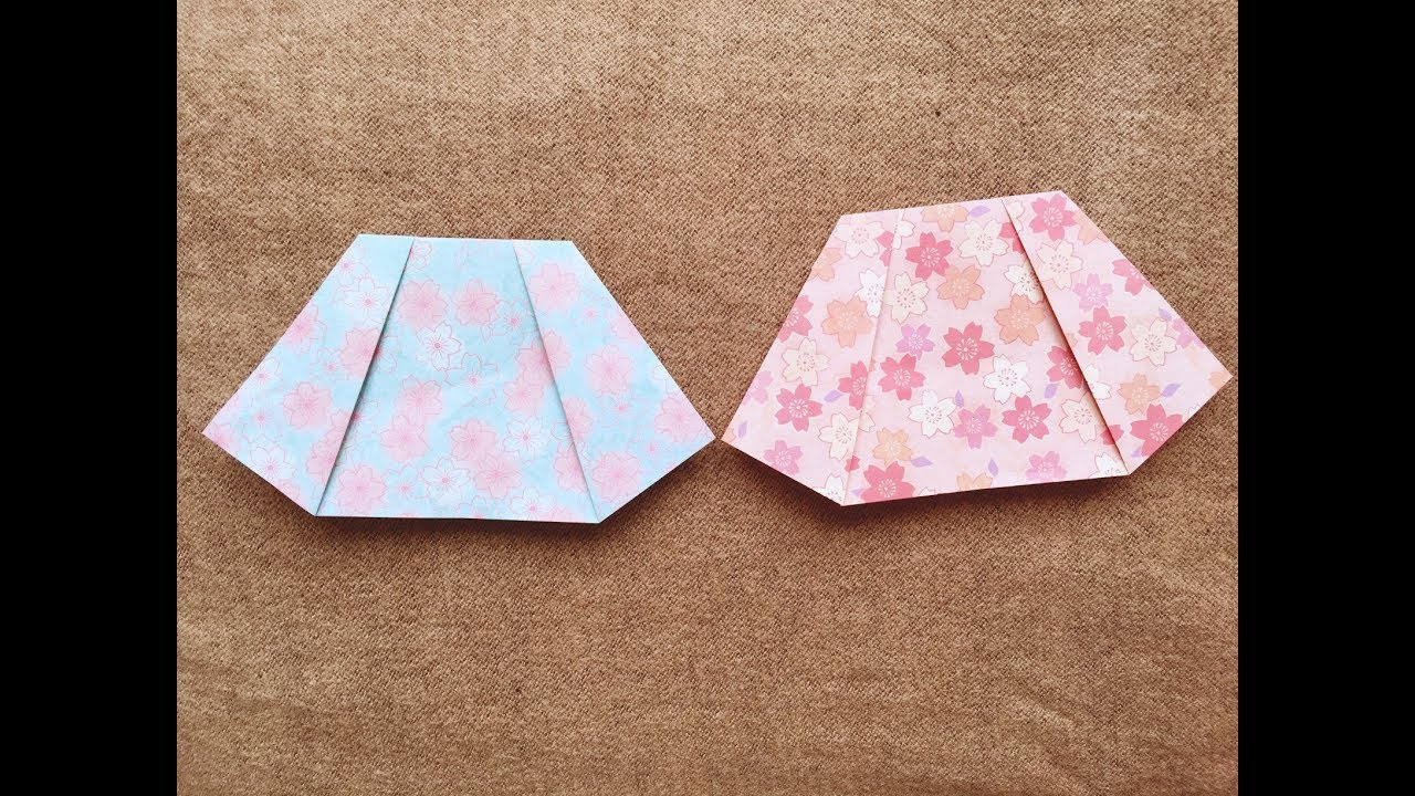 How To Make A Paper Skirt Tutorial Origami Skirt Youtube