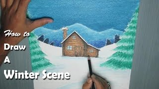 How to Paint a Winter Night Scene with Oil Pastel