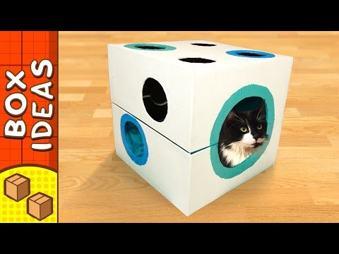 diy-cat-bed---dice-|-craft-ideas-for-kids-on-box-yourself