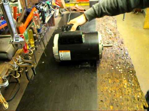 emerson 5hp compressor motor youtube