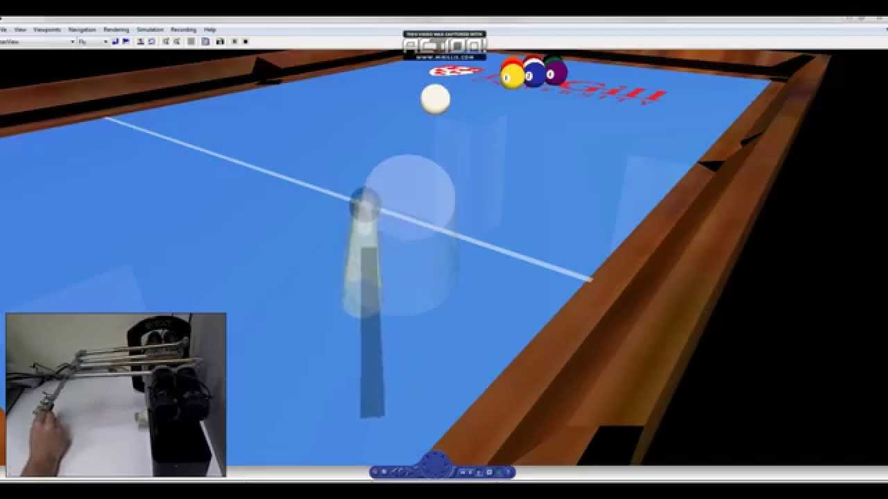 Haptic Billiards: 1st Place Recipient #SimulinkChallenge2014 - YouTube