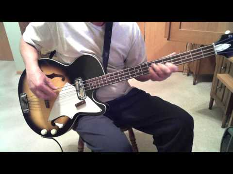The Outsiders Time Won't Let Me Greg Papaleo  1965 Harmony H22 Bass