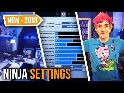 Ninja *UPDATED* Fortnite Settings, Keybinds & Setup 2019