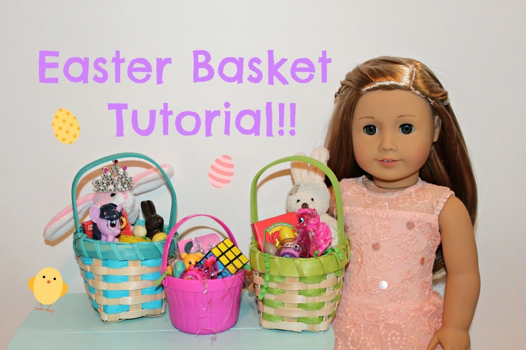 American girl sized easter basket tutorial youtube negle Images
