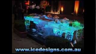 Ice Buffet Table - Ice Carving By Down Under Ice Designs