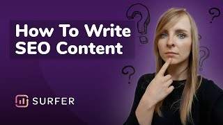 How to write SEO content with Surfer's Content Editor