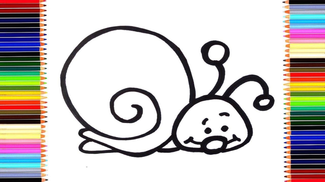 Как нарисовать УЛИТКУ / мультик раскраска УЛИТКА для детей / Раскраски малышам