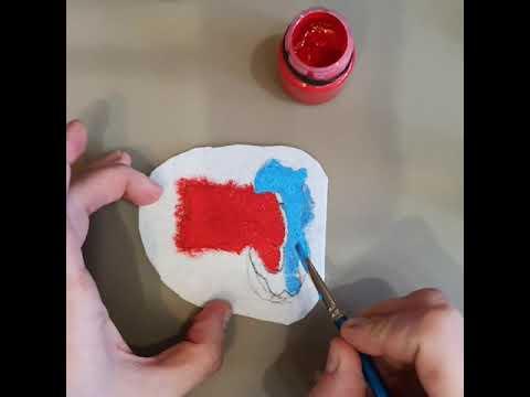 Как покрасить фетр в домашних условиях