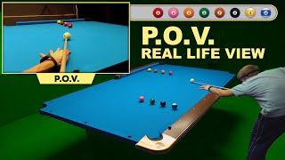 Don't Drop The Cue Ball On The Floor !!! POV GoPro Billiard Drill