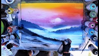 Foggy hills - SPRAY PAINT ART by Skech