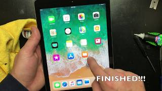 HOW TO REPLACE APPLE IPAD 5 5TH GEN DIGITIZER CRACKED GLASS (2017 MODEL)