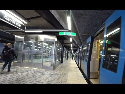Sweden, Stockholm, subway ride from Mariatorget to Gamla stan