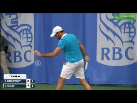 42 point tie break between Guillermo Olaso and Evegny Karlovskiy at the Dallas Challenger 2018