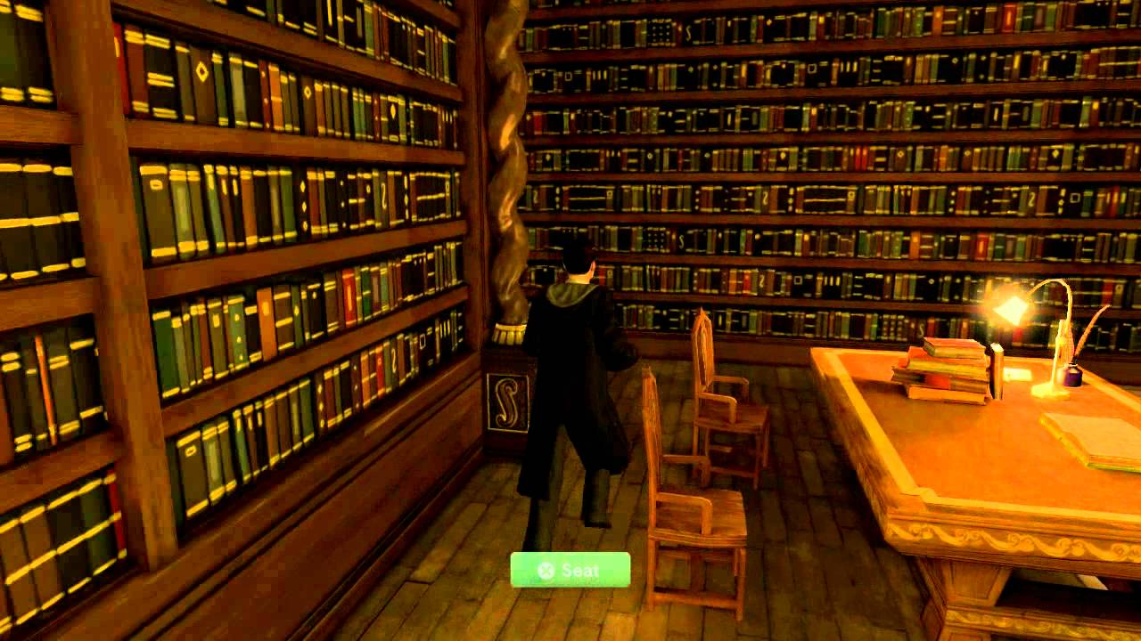 Playstation Home Pottermore Hogwarts Library