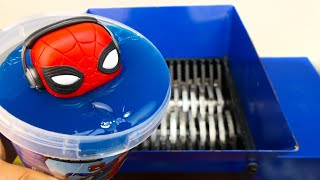 SHREDDING SLIME SPIDERMAN TOY!