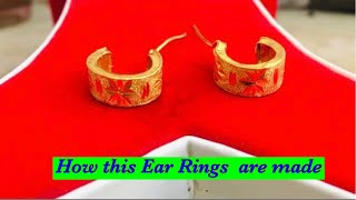 Gold earring making l ear pin l how to make gold juli