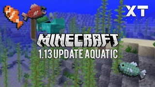 Minecraft 1.13 Update Aquatic | Snapshot 18w08b | Looking at new features! Exploring the ocean!