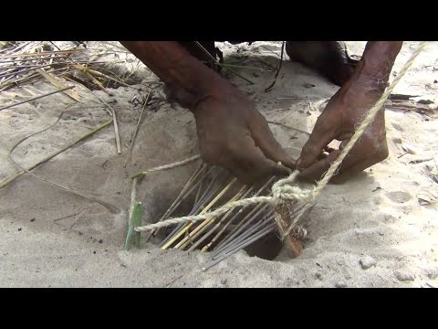 The Bushmen of Namibia building traps and snares