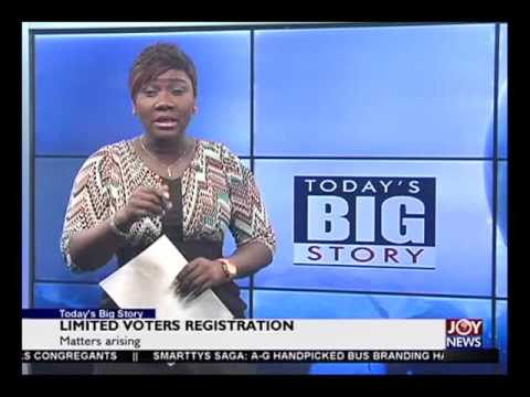 Voters Registration Extension - Today's Big Story on Joy News (9-5-16)