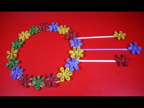How to make a easy paper flower with paper |  art and craft with paper |  DIY Paper Crafts