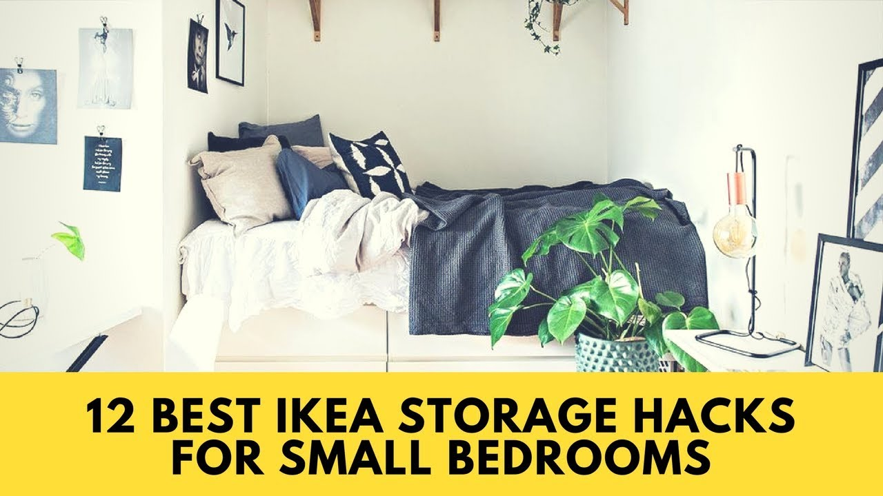 12 Best Ikea Storage Hacks For Small Bedrooms Home Organization Ideas 2017
