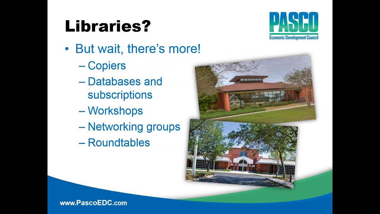 Florida Libraries as Small Business Incubators – Partnerships That Work