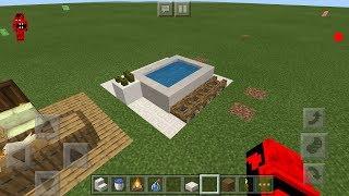 Mcpe (Minecraft PE) deoratif küvet nasıl yapılır? Bebek ve büyük küveti
