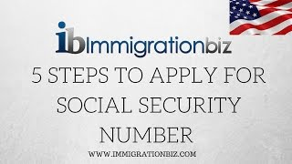 5 steps to apply for Social Security Number SSN✔️
