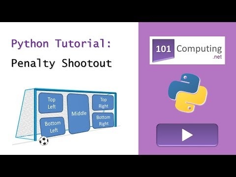 Python Tutorial - Penalty Shootout Game by 101Computing