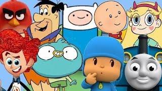 Pocoyo em Português Caillou Thomas E Seus Amigos Angry Birds Os Flintstones Hora De Aventura Harvey