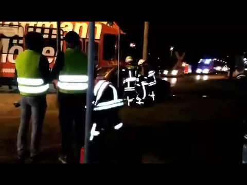 Unfallsimulation in Cottbus an der Wendeschleife Thiemstraße - YouTube