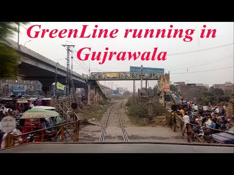 Inside GreenLine Engine || Unstoppable Whistles || Speedy Cab ride in crowded Gujrawala