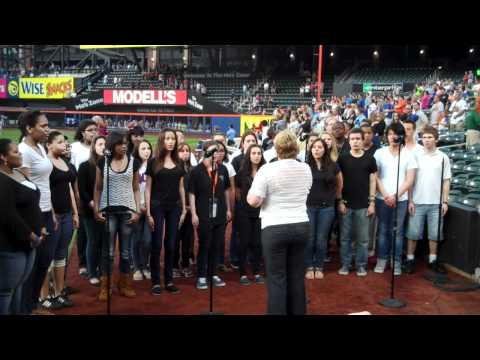 Martin Luther School Maspeth - National Anthem Performance @ Citifield May '12.MP4
