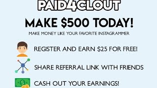 Clout pay sign up free 25$ Quick earn by share link