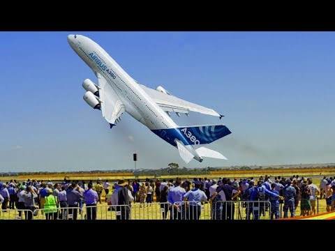AMAZING Airbus A380 A350 near VERTICAL Take-off ✱ LARGE COMMERCIAL BOEING vs AIRBUS