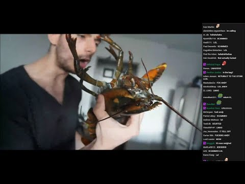 Thumbnail: Ice Poseidon Destroys Kitchen while Cooking Lobsters (VOD with chat) [05/29/2017]