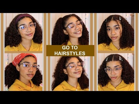 MY GO TO CURLY HAIR HAIRSTYLES *Very Easy*