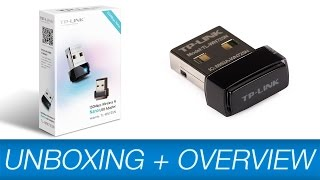 tp link nano wlan usb adapter unboxing installation