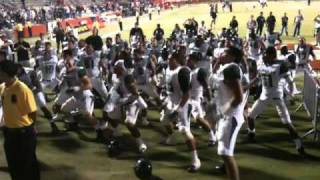 Hawaii Haka Dance after beating Fresno State