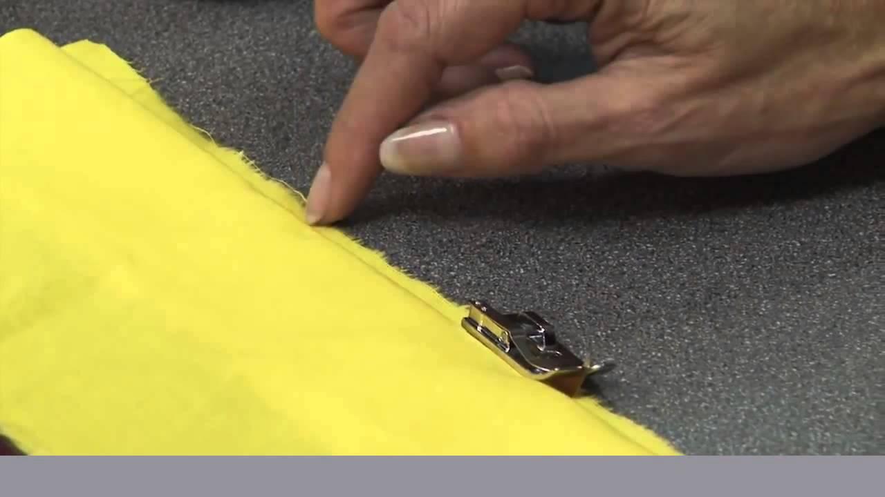 Как видео шить потайным швом
