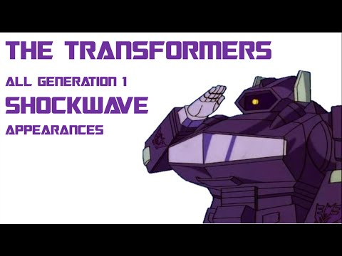 The Transformers Cartoon: All Decepticon Shockwave Appearances
