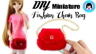 DIY! 👛 Miniature Fashion Chain Bag for Dolls! ★ DARLINGDOLLS I DarlingDolls