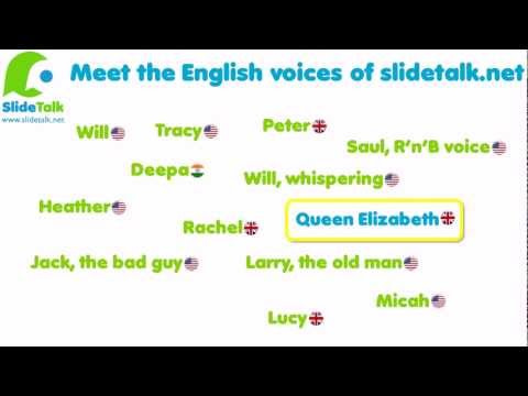 Slidetalk: introducing 15 of our english text-to-speech voices