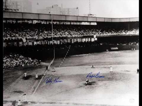 1951 NL CHAMPIONSHIP GAME BOBBY THOMPSON'S SHOT HEARD ROUND THE WORLD