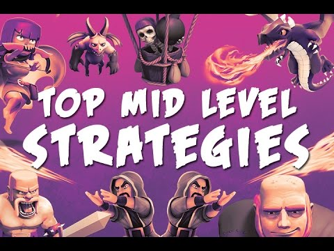 Clash of Clans |  Top Mid Level Strategies | Try these at Home!
