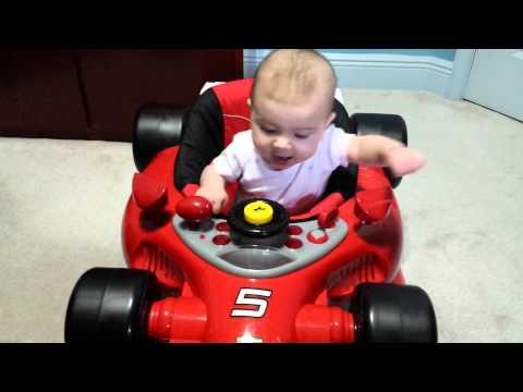 Baby In Ferrari F1 Car