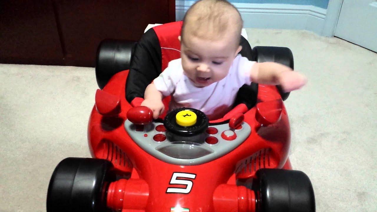 Baby in Ferrari F1 car - YouTube