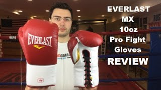Everlast MX Pro Fight 10oz Boxing Gloves Review by ratethisgear