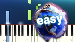 Lil Dicky - Earth (100% EASY PIANO TUTORIAL)