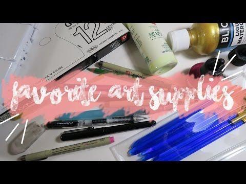 My Favorite Art Supplies! | Keely Elle